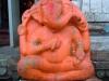 Devotees do abhishekam to Lord Ganesh here with Ganga waters.